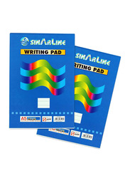 Sinarline Writing Pad, Pack of 10 x 80 Sheets, A5 Size, White