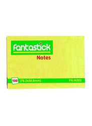 Fantastick FK-N203-12 Sticky Notes, 2 x 3 inch, Yellow
