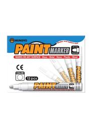 Mungyo 10-Piece Paint Marker Set, White
