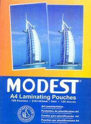 Modest Laminating Pouches, A4 Size, 125 Micron, 100 Pieces, Multicolor
