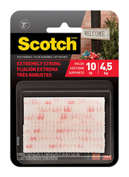 Scotch 3M All-Weather Fasteners, 1 x 3 Inch, 2 Pieces, RFD7090, Clear