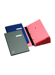Elba Signature Book, 20 Compartments, PVC Cover, Multicolor
