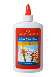 Faber-Castell 220250 Glue, 250ml, White/Red
