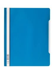 Durable 2570 Clear View Folder Plastic with Index Strip Extra Wide A4, 50 Pieces, Blue