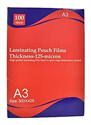 Deluxe AMT A3 Lamination Pouch Film, 100 Sheets, Clear