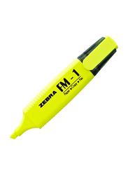 Zebra 10-Piece FM-1 Highlighter Pen Set, Yellow