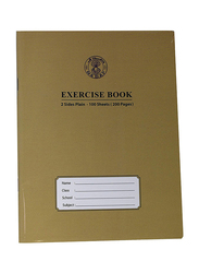 Sadaf Two Sides Plain Exercise Book, 70 Sheets, A4 Size, Brown