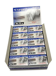 Kangaro Stapler Pin, 10-1M, 10 Box of 20 Packet, Silver