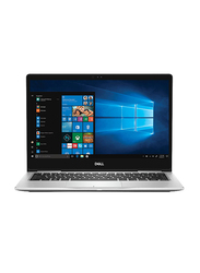 "DELL Inspiron 7370-1116 Laptop, 13.3"" FHD Display, Intel Core i7 8th Gen 1.8GHz, 512GB SSD, 16GB RAM, Intel UHD Graphics 620, EN-AR KB, Win 10 Home, Silver"