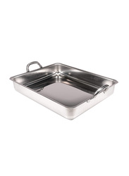 Matfer Bourgeat 40cm Stainless Steel Rectangle Roasting Pan, 40 x 32 x 7.5cm, Silver