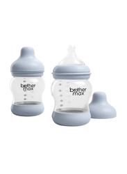 Brother Max 2 Piece PP Anti-Colic Baby Feeding Bottle Set 160ml, BM1072B, Blue
