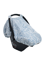 Bebe Au Lait Muslin Light & Breathable Car Seat Cover, CCBMSE, Serenity Blue
