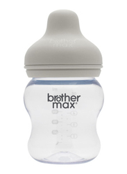 Brother Max PP Extra Wide Neck Baby Feeding Bottle 160ml, BM109G, Grey