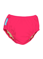 Charlie Banana Easy Snaps Reusable Swim Diapers, L, Florescent Pink, 9-12 kg, 1 Count