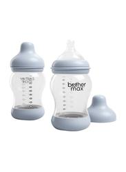 Brother Max 2 Piece PP Anti-Colic Baby Feeding Bottle Set 240ml, BM1082B, Blue