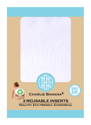 Charlie Banana Deluxe Reusable Inserts, One Size, Small, 3 Count