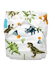 Charlie Banana Dinosaurs Hybrid Cloth Diaper with 2 Inserts, 1 Count