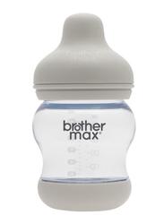 Brother Max + S teat PP Anti-Colic Baby Feeding Bottle 160ml, BM107G, Grey