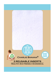 Charlie Banana Deluxe Reusable Inserts, One Size, Medium/Large, 3 Count
