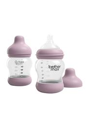 Brother Max 2 Piece PP Anti-Colic Baby Feeding Bottle Set 160ml, BM1072P, Pink