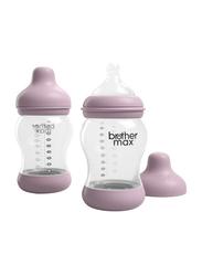 Brother Max 2 Piece PP Anti-Colic Baby Feeding Bottle Set 240ml, BM1082P, Pink