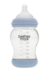 Brother Max + M teat PP Anti-Colic Baby Feeding Bottle 240ml, BM108B, Blue