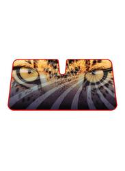 LP Double Bubble Leopard Car Sunshade, LP-TSS-19, Multicolour
