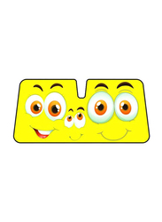 LP Double Bubble Smiles Car Sunshade, Yellow