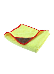Kenco Lint Free Microfiber Buffing Towel, Yellow/Red
