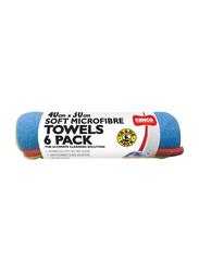 Kenco 6-Piece Soft Microfiber Towel Set, Multicolor