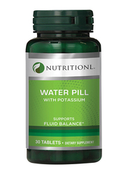 Nutritionl Water Pill with Potassium Dietary Supplement, 30 Tablets