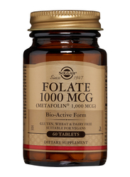 Solgar Folate 1000 MCG (Metafolin 1, 000 MCG) Dietary Supplement, 60 Tablets