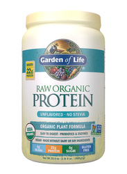 Garden of Life Raw Organic Protein Powder, 568gm, Unflavored - No Stevia
