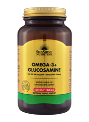 Sunshine Nutrition Omega 3+ Glucosamine Dietary Supplement, 100 Softgels