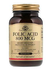 Solgar Folic Acid Dietary Supplement, 800mcg, 250 Tablets