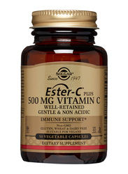 Solgar Ester-C Plus Ascorbate Complex Vitamin C Dietary Supplement, 500mg, 50 Vegetable Capsules