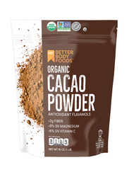 Better Body Foods Organic Cacao Powder, 453g, Cacao