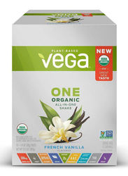 Vega One Organic All-in-One Shake Sachets, 38g, 10 Sachets, French Vanilla