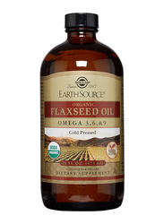 Solgar Earth Source Organic Flaxseed Oil Dietary Supplement, 473ml