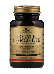 Solgar Folate 666 MCG DFE (Metafolin 400 MCG) Dietary Supplement, 100 Tablets