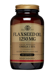 Solgar Flaxseed Oil Dietary Supplement, 1250mg, 250 Softgels