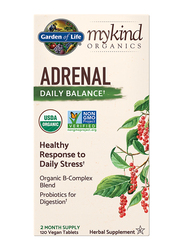 Garden of Life Mykind Organics Adrenal Daily Balance 2 Month Supply Herbal Supplements, 120 Vegan Tablets