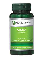 Nutritionl Stamina & Endurance Maca Dietary Supplement, 500mg, 60 Capsules