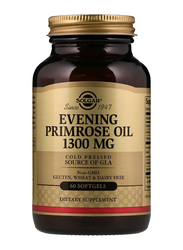 Solgar Evening Primrose Oil Dietary Supplement, 1300mg, 60 Softgels