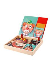 12-Piece Set Faces Dressing Puzzle