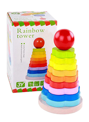 Rainbow Tower Blocks, 9 Pieces, Ages 3+