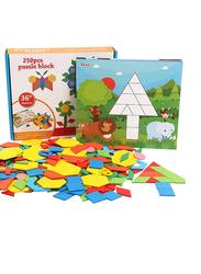 250-Piece Set Mosaic Wooden Puzzle