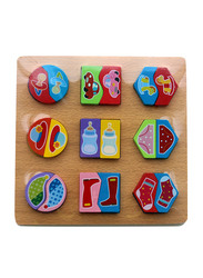 9-Piece Set Baby Paired Shape Puzzle