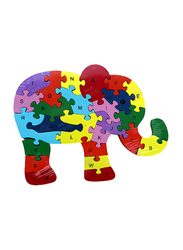 26-Piece Set Elephant Letters and Numbers Jigsaw Puzzle