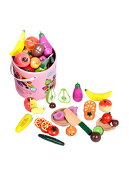 Wooden Fruit Cutting Set, 18 Pieces, Ages 3+